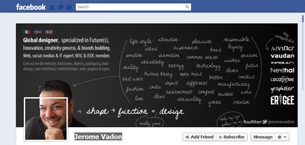 Jerome Vadon Facebook Timeline Tips and Cover Page Inspirations