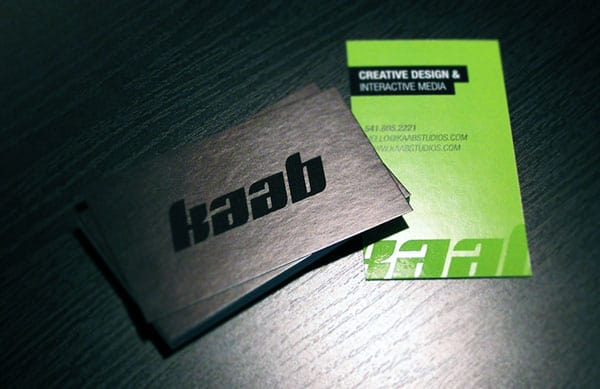 KAAB 50+ Green Business card Designs