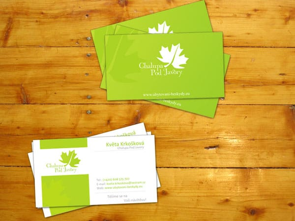 Krkoska hotel business card 50+ Green Business card Designs
