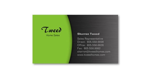 Lime Green 50+ Green Business card Designs