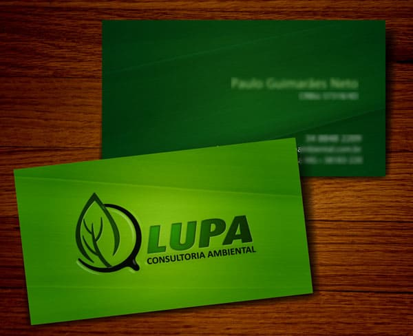 Lupa Consultoria Ambiental 50+ Green Business card Designs