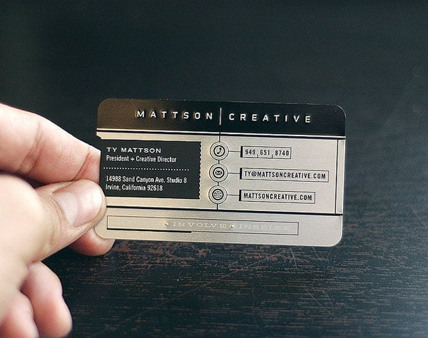 Mattson Creative Business Card 30+ Luxury Business Cards