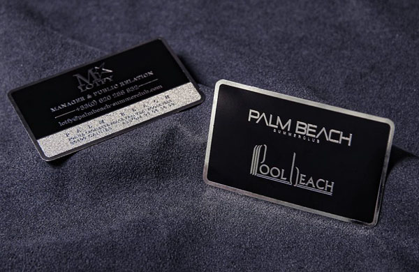 Metal Card Palm Beach 30+ Luxury Business Cards