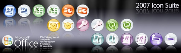 Microsoft Office 2007 Orbs 20+ Free Microsoft Office PNG Icons