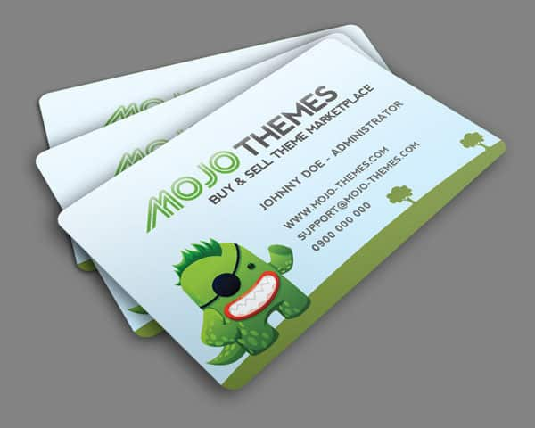 Mojo Themes business card 50+ Green Business card Designs
