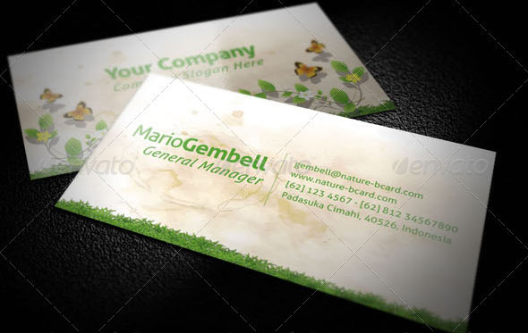 Nature Business Card 50+ Green Business card Designs