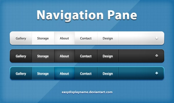 Navigation Pane 40 Free Website Navigation Menu Bar PSDs