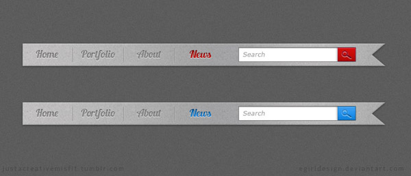 Navigation Ribbons 40 Free Website Navigation Menu Bar PSDs