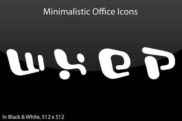 Office Minimalistic Icons 20+ Free Microsoft Office PNG Icons