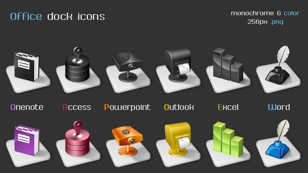 Office dock icons 20+ Free Microsoft Office PNG Icons