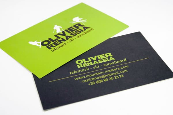 Olivier Renassia 50+ Green Business card Designs