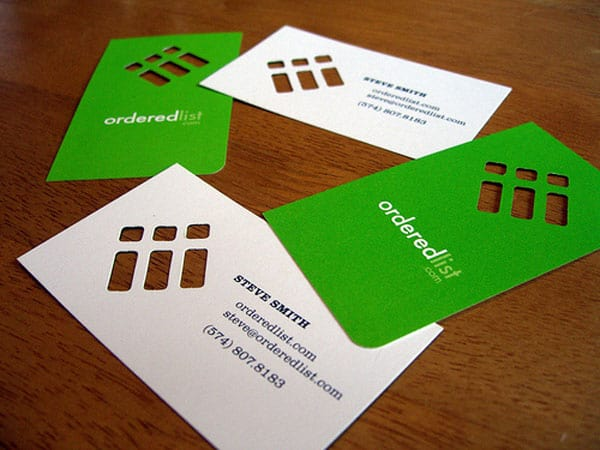 Ordered List 50+ Green Business card Designs
