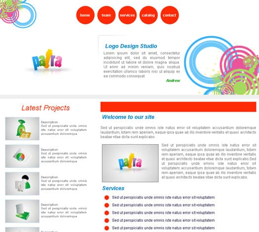 Patra 25 Free Dreamweaver CSS Templates