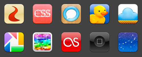 Phoney Icons by DoNotThrowAway 30+ iPhone App Icons Collections