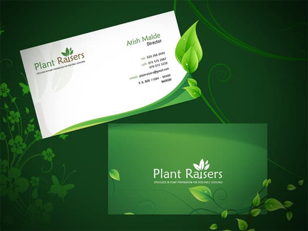 Plant Raiser Business Card 50+ Green Business card Designs
