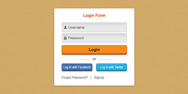 Pretty clean login form 30 Free PSD Login Page Templates