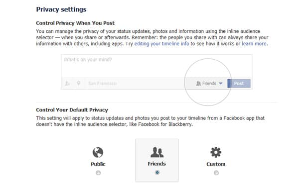 Privacy settings Facebook Timeline Tips and Cover Page Inspirations