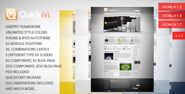 QuickM Template 25 Best Joomla Templates for Inspiration