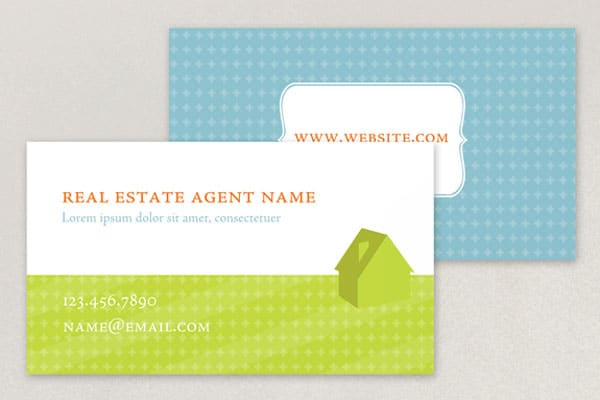 Real Estate Business Card 50+ Green Business card Designs