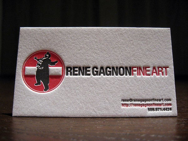 Rene Gagnon Letterpress Cards 30+ Luxury Business Cards
