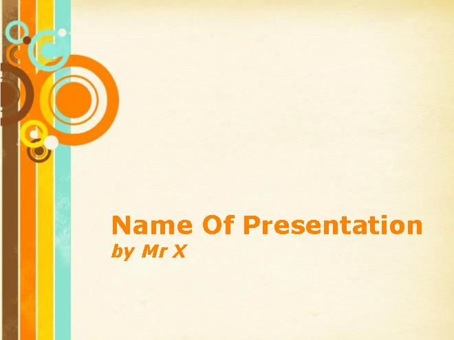 Retro Circles Free Powerpoint Template 30 Best PowerPoint Templates
