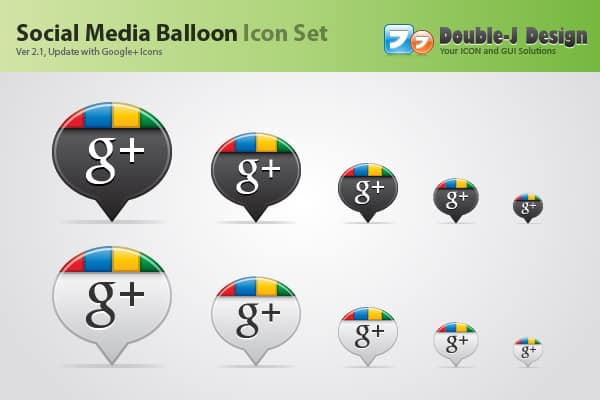 Social Media Balloon Google+ Icon 30 Sets of Social Media/Bookmarking Icons