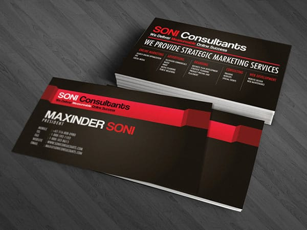 Soni Consultants 30+ Luxury Business Cards