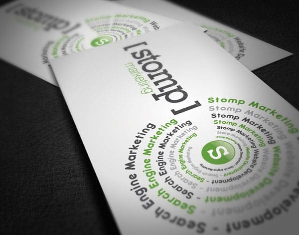 Stomp Marketing 50+ Green Business card Designs