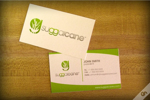 SuggarCane Logo 50+ Green Business card Designs