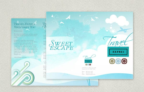 Sweet Escape Brochure 30 Beautiful Travel Brochure Designs