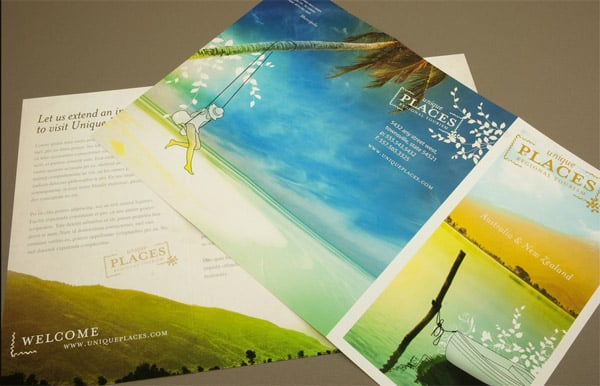 30 beautiful travel brochure designs for Tourist brochure template