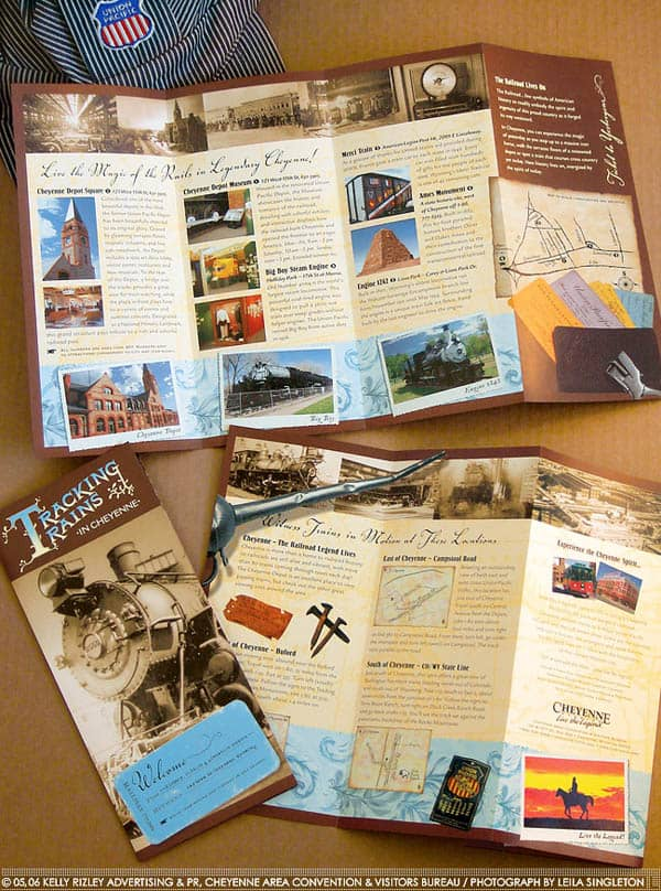 Tracking Trains 30 Beautiful Travel Brochure Designs