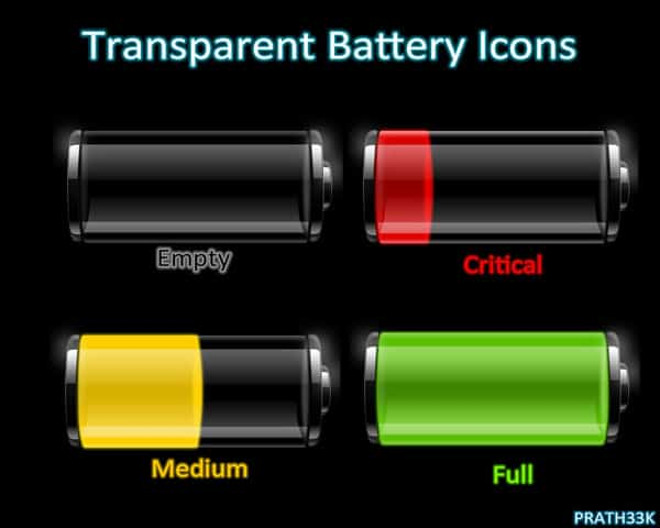 Transparent Battery Icons