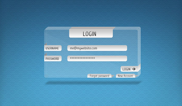 Transparent Login Form 30 Free PSD Login Page Templates