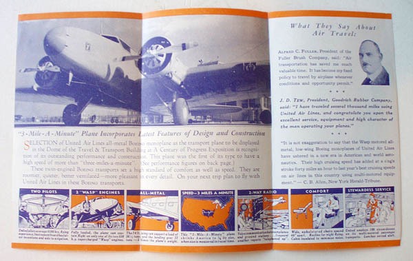 UNITED AIRLINES 1934 TRAVEL BROCHURE 30 Beautiful Travel Brochure Designs