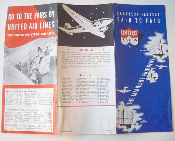 United Airlines 1939 30 Beautiful Travel Brochure Designs