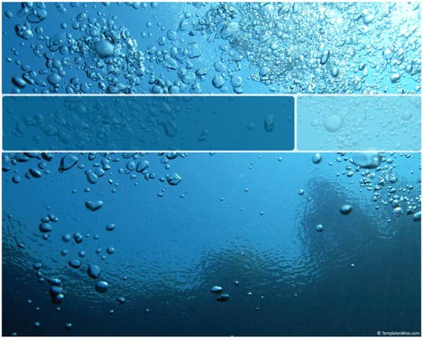 Water Bubbles Template 30 Best PowerPoint Templates