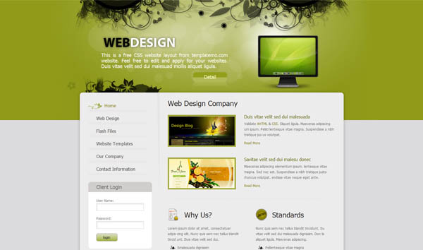 Web Design Company 25 Free Dreamweaver CSS Templates