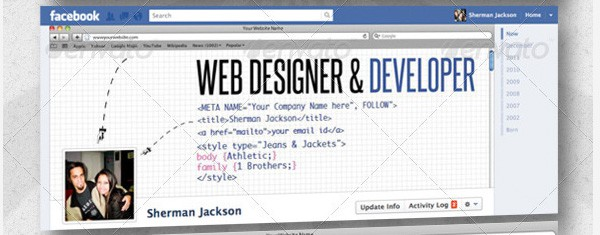 Web Elements Facebook Timeline Tips and Cover Page Inspirations