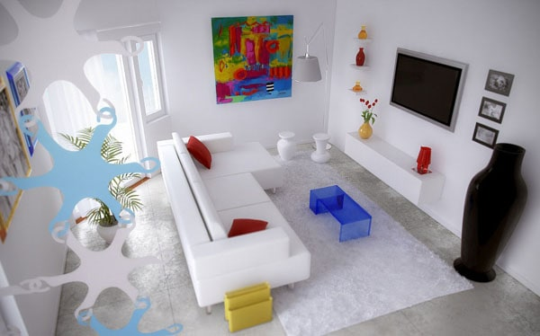 White theme living room with art wall decor 30+ Living Room Designs for your Sweet Home