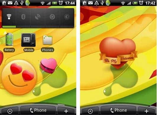 Valentines android widget