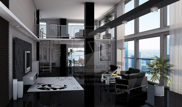 black loft 30+ Living Room Designs for your Sweet Home