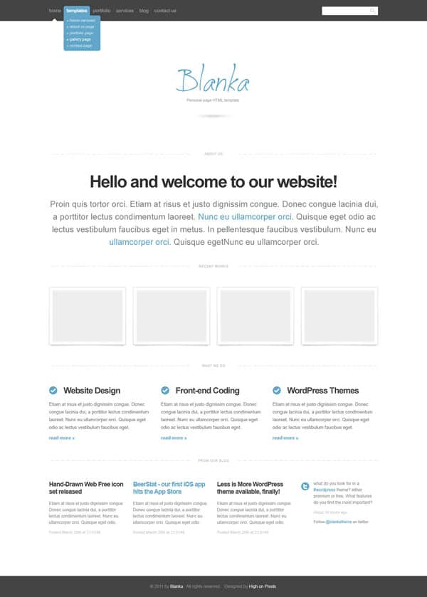 blanka 25 Free Dreamweaver CSS Templates