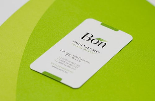 bon card 50+ Green Business card Designs