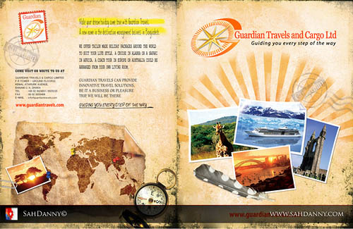 brochure template design 30 Beautiful Travel Brochure Designs