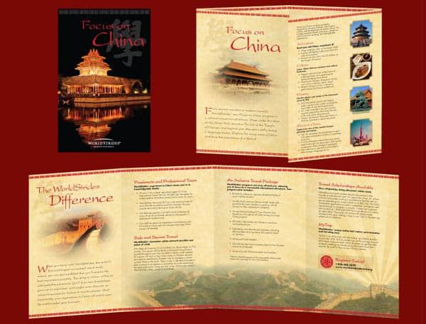 china reg brochure 30 Beautiful Travel Brochure Designs