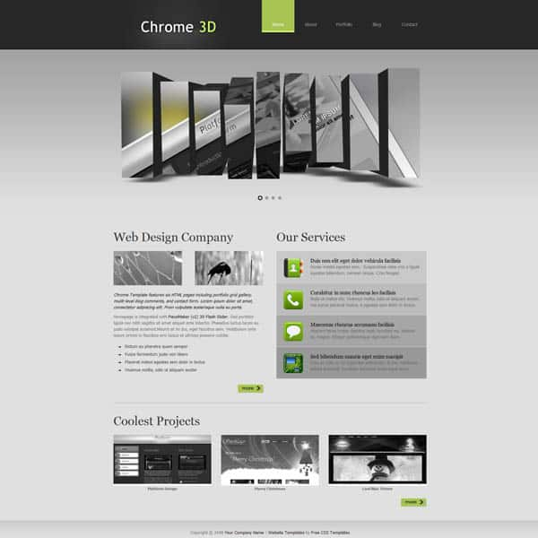 chrome 25 Free Dreamweaver CSS Templates