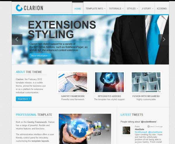 clarion 25 Best Joomla Templates for Inspiration