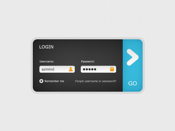 clean web 2 0 login form 30 Free PSD Login Page Templates