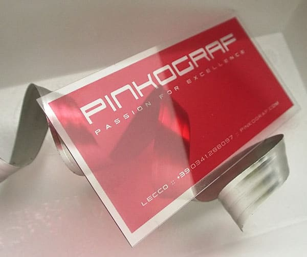 clear plastic business cards 30+ Luxury Business Cards